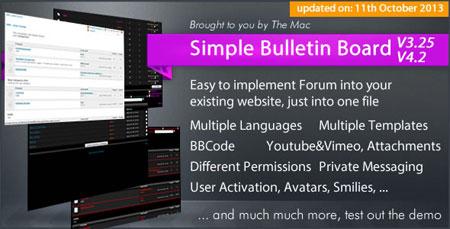 اسکریپت انجمن ساز Simple Bulletin Board نسخه 4.2
