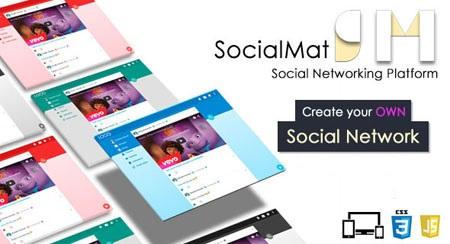 اسکریپت شبکه اجتماعی و جامعه مجازی SocialMat نسخه 1.3