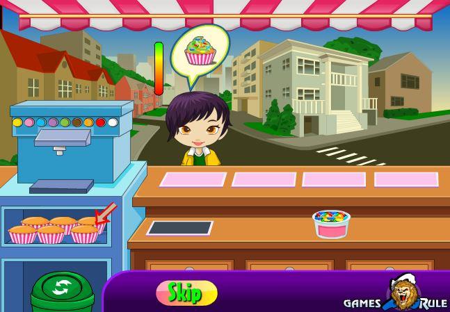 بازی آنلاین فروش کاپ کیک