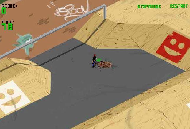 بازی آنلاین دوچرخه سواری در پیست