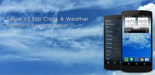 دانلود نرم افزار اندروید Sense V2 Flip Clock & Weather v1.01.06