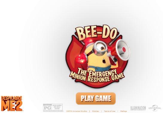 بازی آنلاین مینیون های زرد