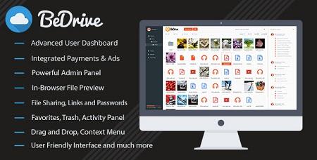 اسکریپت آپلود سنتر و اشتراک گذاری فایل BeDrive نسخه 1.6