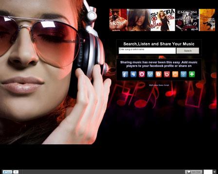 اسکریپت ایجاد موتور جستجوی موسیقی با قابلیت اشتراک گذاری در فیسبوک