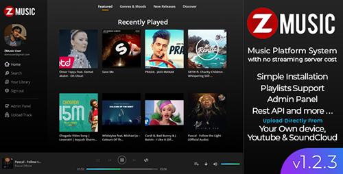 اسکریپت سایت موزیک Zuz Music