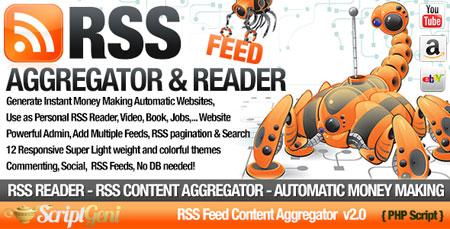 ایجاد سایت خبرخوان با اسکریپت RSS Aggregator