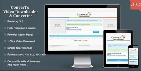 اسکریپت دانلود ، تبدیل و انتقال ویدئو از سایت ها ConverTo نسخه 1.3.2