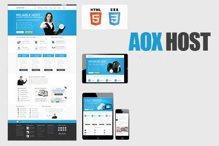 قالب زیبای میزبانی وب AOX HOST به صورت HTML