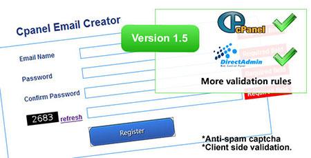 اسکریپت سرویس ایمیل با نام Cpanel Email Creator