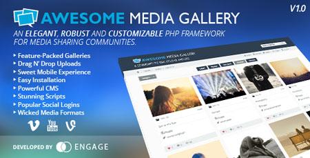 اسکریپت شبکه اجتماعی چندرسانه ای Awesome Media Gallery