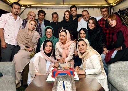 عکس های دیدنی از بازیگران در یک جشن تولد