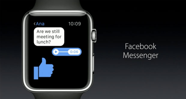 اپلیکیشن فیسبوک مسنجر برای اپل واچ