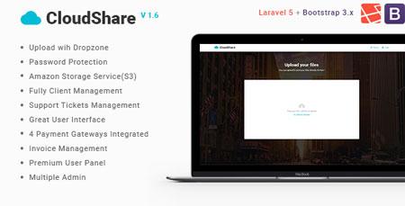 اسکریپت اشتراک گذاری فایل CloudShare نسخه 1.6