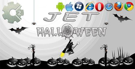 اسکریپت بازی آنلاین HTML5 جت هالووین Jet Halloween