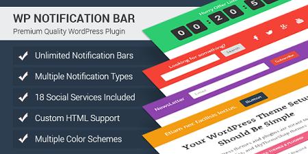افزونه ایجاد نوار اعلانات در وردپرس WP Notification Bar