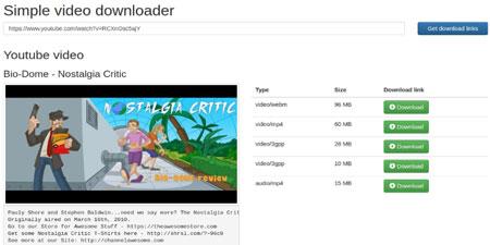 اسکریپت دانلود از یوتیوب Simple Youtube Video Downloader