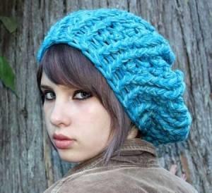 آموزش تصویری بافت کلاه کج گرد به همراه شال گردن