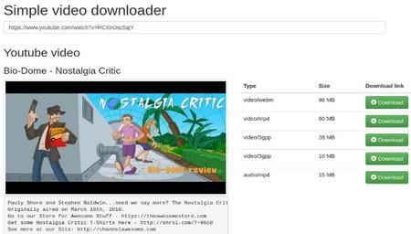 اسكريپت دانلودر ويدئو از يوتيوب Simple Youtube Video Downloader
