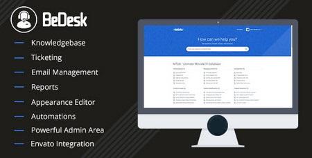 اسکریپت پشتیبانی مشتری به صورت تیکتینگ و دانشنامه آنلاین BeDesk