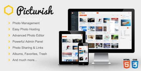 اسکریپت آپلودسنتر تصاویر با قابلیت ویرایش و مدیریت Picturish نسخه 1.4.1