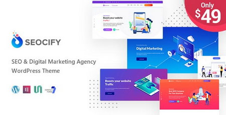دانلود قالب شرکتی و خدماتی Seocify برای وردپرسقالب