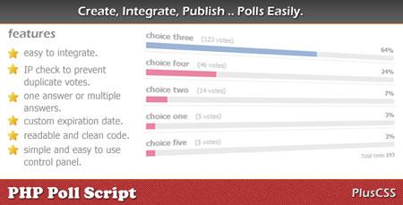 اسکریپت ایجاد نظر سنجی PHP Poll Script