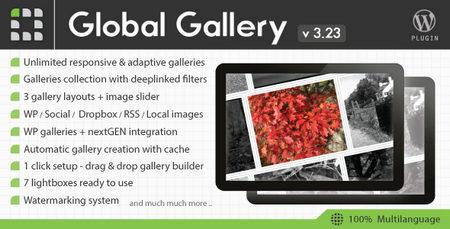 افزونه ایجاد گالری تصاویر حرفه ای در وردپرس Global Gallery نسخه 6.5