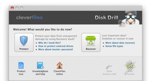 نرم افزار بازیابی اطلاعات پاک شده در مکینتاش - Disk Drill