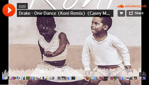موزیک آنلاین Drake - One Dance (Koni Remix) (Casey Malone Cover)