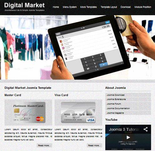 دانلود رایگان قالب فروشگاه دیجیتالی جوملا 3 - Digital Market