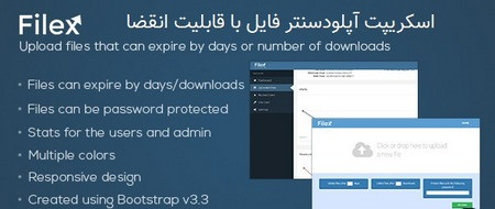 اسکریپت آپلودسنتر فایل با قابلیت انقضا Filex