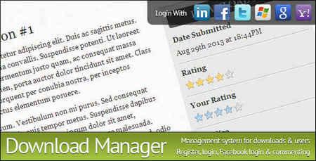 اسکریپت مدیریت دانلود Download Manager نسخه 2