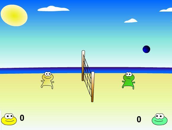 بازی انلاین جدید والیبال قورباقه ها
