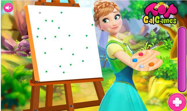 بازی انلاین نقاشی با انا