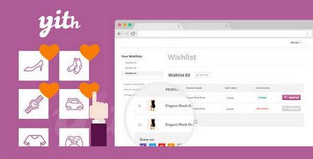 افزونه لیست علاقه مندی ها در ووکامرس YITH WooCommerce Wishlist
