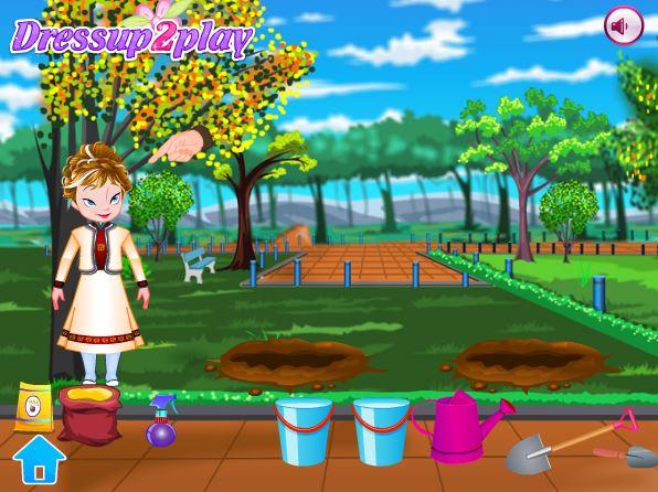 بازی انلاین دخترانه انا باغبان