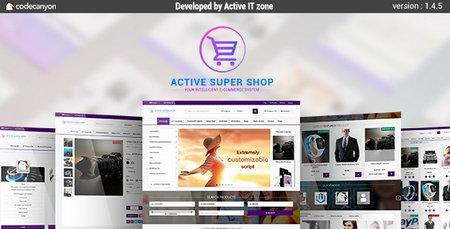 اسکریپت فروشگاه ساز حرفه ای Active Super Shop نسخه 1.5.1