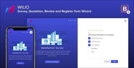 قالب HTML نظرسنجی و ویزارد چندمنظوره Wilio