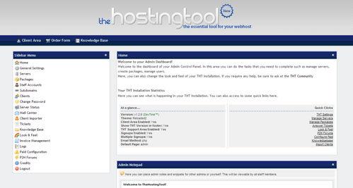 اسکریپت مدیریت هاستینگ و صورت حساب TheHostingTool