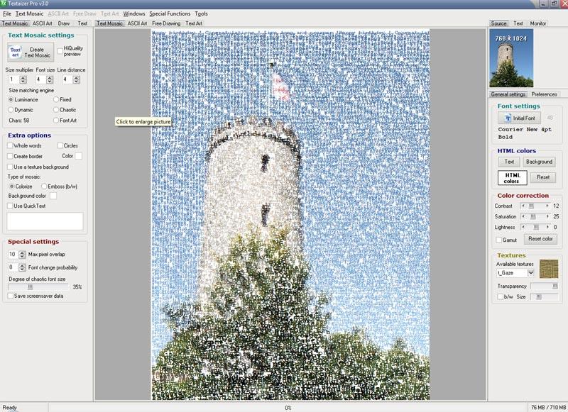 دانلود نرم افزار تبدیل عکس به تصاویر متنی Textaizer Pro Plus 5.0.74