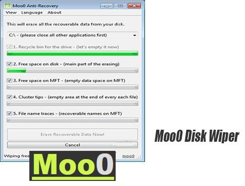 دانلود Moo0 Disk Wiper 1.14 حذف کننده عمیق اطلاعات بدون بازیابی