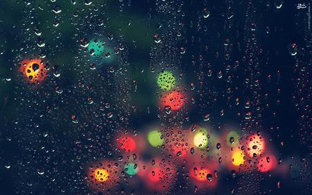 عکس/ شیشه های بارانی