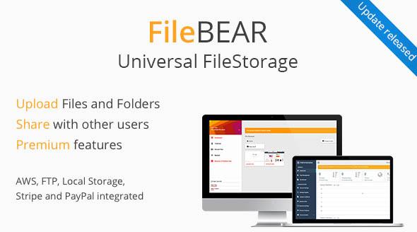 اسکریپت آپلودسنتر و اشتراک گذاری فایل FileBear نسخه ۱٫۵