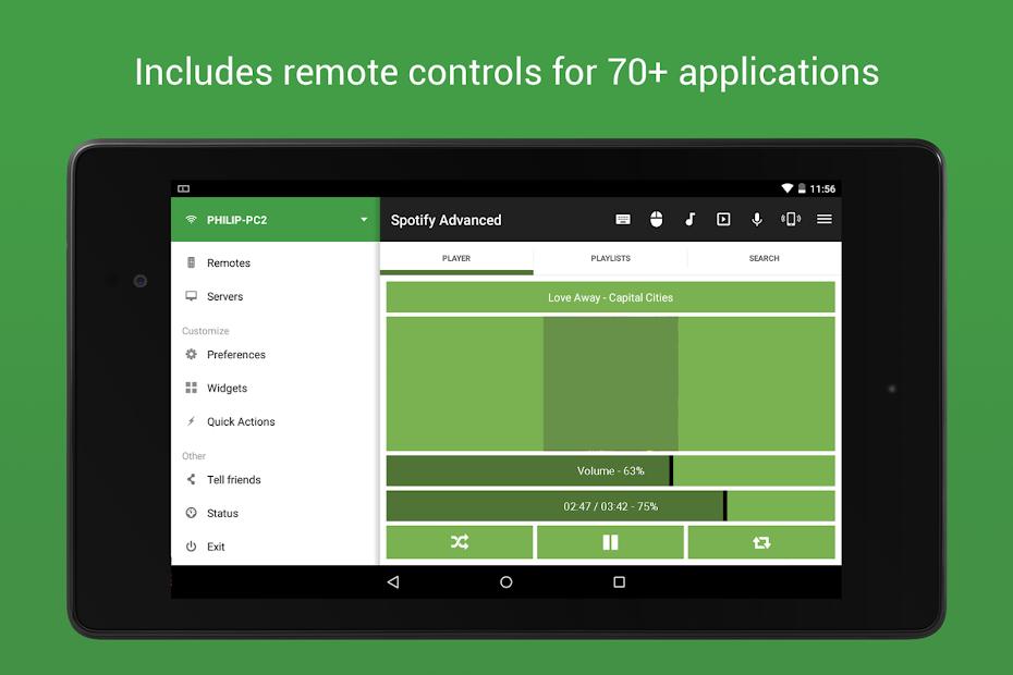 نرم افزار کنترل از راه دور کامپیوتر اندروید (Unified Remote)