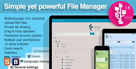 اسکریپت مدیریت و اشتراک گذاری فایل Veno File Manager نسخه ۱.۶.۷