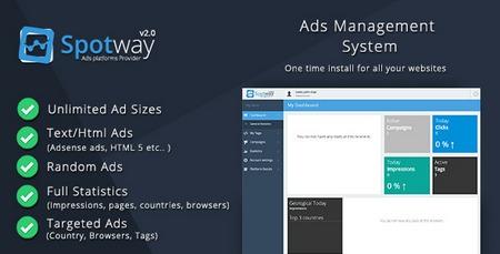 اسکریپت مدیریت تبلیغات و آگهی SpotWay نسخه 2.0