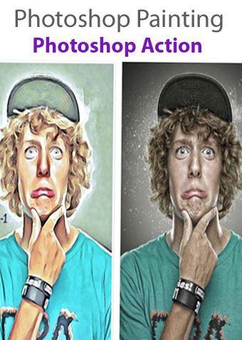 دانلود اکشن فتوشاپ تبدیل تصاویر به نقاشی – Photoshop Painting