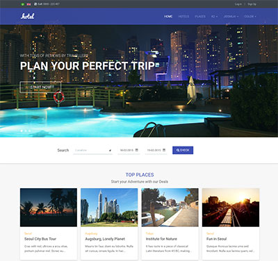 قالب JA Hotel برای سایت های هتل و آژانس مسافرتی