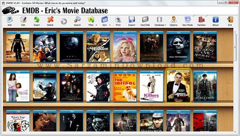 نرم افزار نمایش اطلاعات فیلم های روز دنیا (ویندوز) - EMDB 3.52 Windows