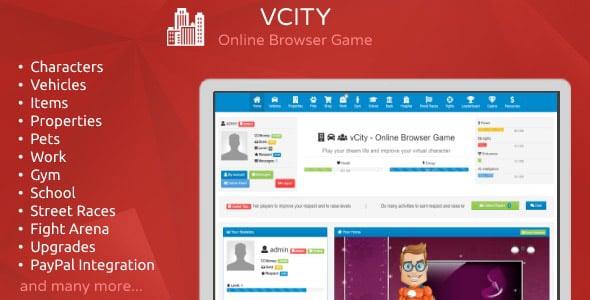 دانلود اسکریپت بازی آنلاین vCity